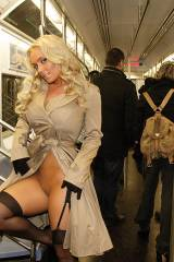 Coco being sneaky in the subway [IMG]