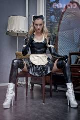 Shiny French maid outfit