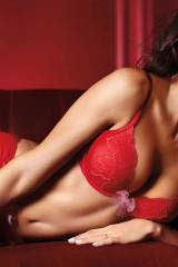 Megan Fox in red lingerie and red stockings (x-pos...