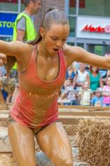 Mud Run girl in Holland