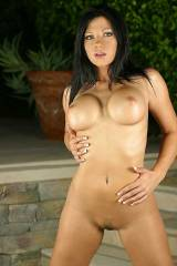 Mandi Rose Fanelli in the backyard