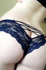Delicate lovely lacy blue