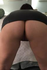 Wife 45f Mom of 2 - Bent over in a black leather m...