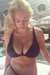 Blond in bikini