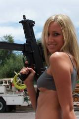 Small tits, big gun (for her at least)