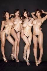 Four Asian hotties