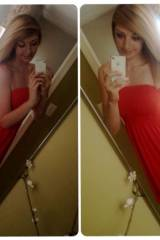 Red dress double shot