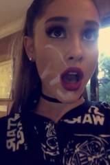 Ariana Grande cum selfie (alt version in comments)...