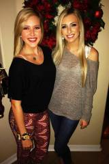 Two blondes at Christmas