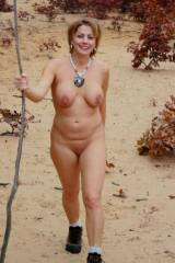 MILF walking IN DESERT