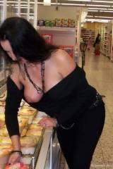 Downblouse While Shopping!