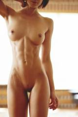 Short and red hair hottie with slim mucle body whi...