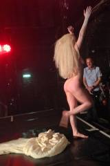 Lady Gaga (During her UK concert)