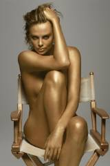 Charlize Theron is golden....