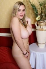 H Cup Holly walking around in the nude