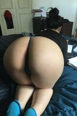 Hot asian bending over in g string