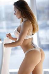 Fit in White Lingerie