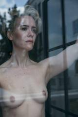 Sarah Paulson Staring Out a Window in W Magazine