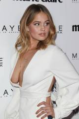 Debby Ryan boob slip at event