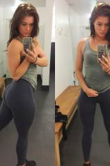 Anyone fans of really nice quads in yoga pants?