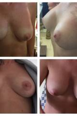 Collage of my wifes tits
