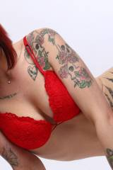 Red, Red, Red. And Ink. [x-post /r/redlingerie]