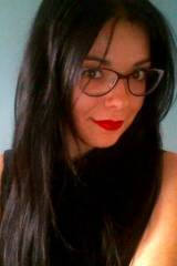 red lips and glasses