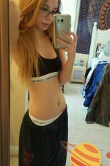 Cute blonde mirror shot [xpost from /r/SweatpantGi...