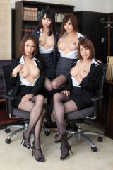 Four Busty Office Ladies