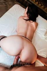 Asian slut in black stockings fucks doggy style (x...
