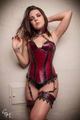 Crazy Corset on this Playful Brunette [x-post /r/r...
