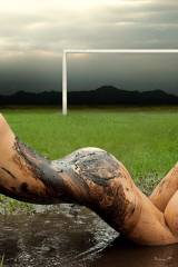 Mariana Contreras down and dirty on the soccer fie...