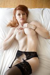 Redhead Laying down