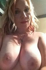 Big tits on this blonde milf - curvy mature snapch...