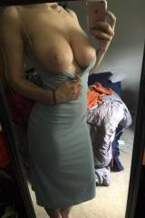 Tight dress and nice tits