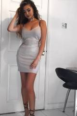 Looking sexy in a tight dress