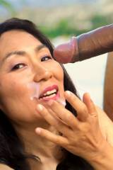 Japanese MILF with BBC