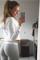 Grey yoga pants
