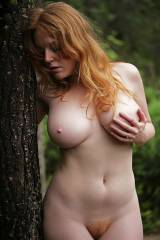 curvy redhead with red pubes