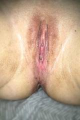 Wife pussy post fist.