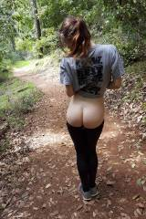 Enjoying a leisurely walk on the wilderness trail