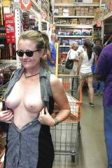 Exposing her 'software' in the hardware store