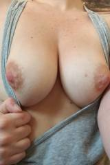 My wifes glorious tits for your viewing pleasure