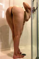 [f] Wife's naked ass in the shower.