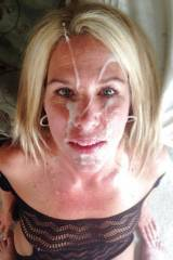 MILF with a facial.