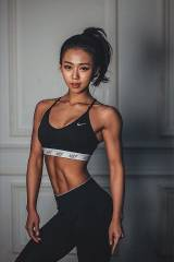 Toned asian