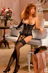 Black Corset and White Piano