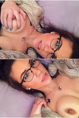 Cute Girl With Glasses And Piercings